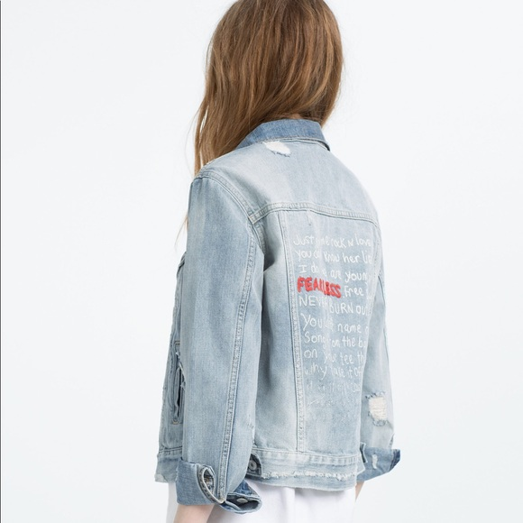 Zara Jackets Amp Coats Fearless Denim Jacket Poshmark